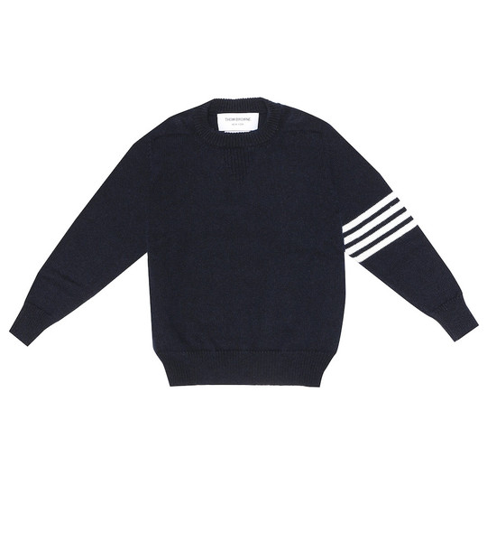Thom Browne Kids Baby cashmere sweater in blue