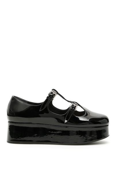Miu Miu Patent Platfrom Ballerinas in black