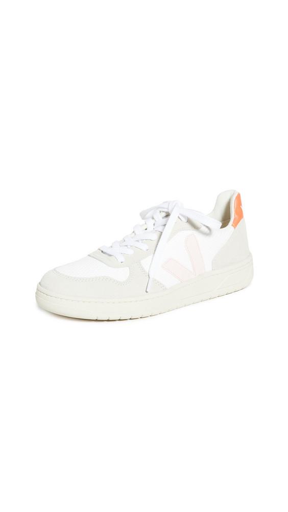 Veja V-10 Sneakers in orange / white